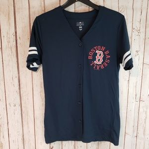 Other - Boston Red Sox light Mesh Button Up Top sz med